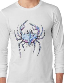 Blue and Purple Crab Long Sleeve T-Shirt