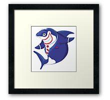 Shark of business Framed Print