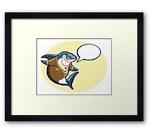 Business shark   Framed Print
