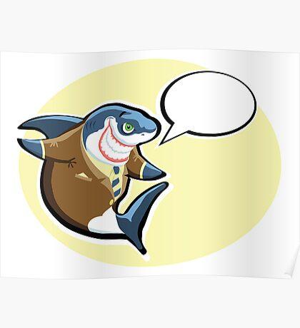 Business shark   Poster
