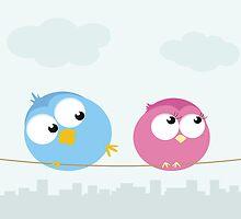 Bird flirt   by vadimmmus
