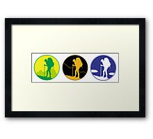 Adventure emblem   Framed Print