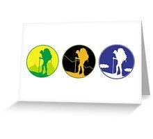 Adventure emblem   Greeting Card