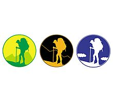 Adventure emblem   Photographic Print