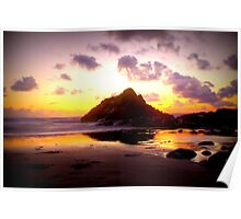 sunset sandymouth Poster