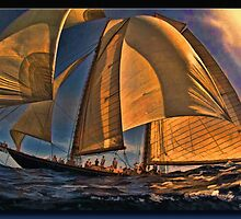 Sunset Sail by Richard  Gerhard