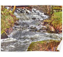 Flowing Waterall Poster