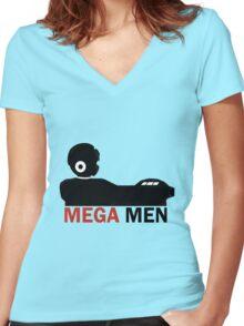 Mega Men Women's Fitted V-Neck T-Shirt