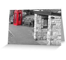 Red telephone box Pendle Hill Greeting Card