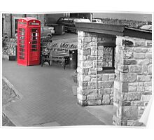 Red telephone box Pendle Hill Poster