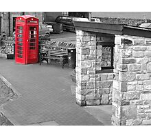 Red telephone box Pendle Hill Photographic Print
