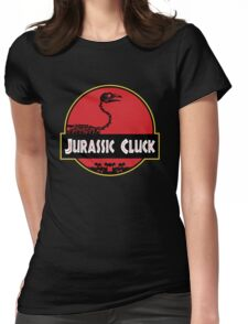 Jurassic Cluck Womens Fitted T-Shirt