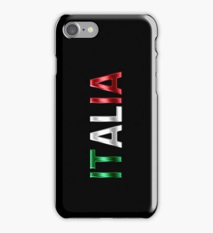 Italia - Italian Flag - Metallic Text iPhone Case/Skin