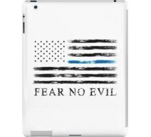 Blue Line - Fear No Evil (Black) iPad Case/Skin