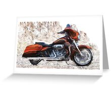 Riding In The Snow Greeting Card