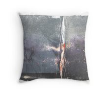Eating snow at dawn Throw Pillow