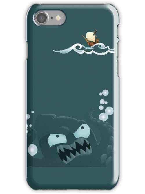 Kraken and Pirate Ship by monkeyminion