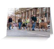 Marching Hounds Greeting Card