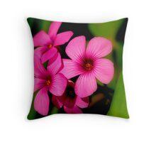 Four Purple Flowers Throw Pillow