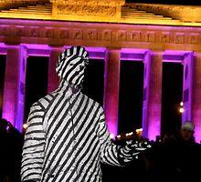 Zebra Man and the Brandenburg Gate by MissBea