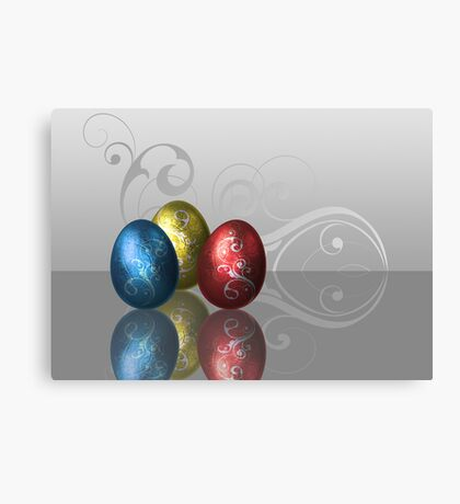 Glamour Easter Eggs Canvas Print