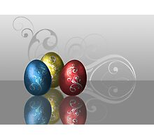 Glamour Easter Eggs Photographic Print