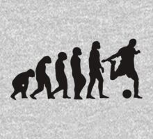 Football Evolution (white) Kids Clothes