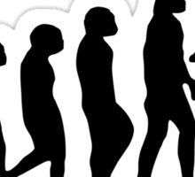 Football Evolution (white) Sticker