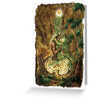 Cerne and The Goddess Greeting Card
