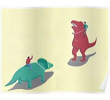 Riding Dinosaurs Poster