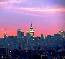 Winter dusk, New York City  by Alberto  DeJesus