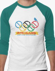 Portland Nolympics Men's Baseball ¾ T-Shirt