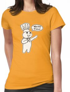 White Flour Womens Fitted T-Shirt