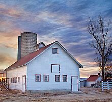 White Barn Sunrise by Bo Insogna