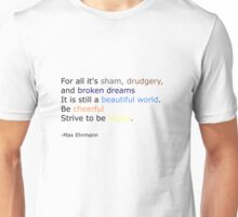 Strive to be Happy Unisex T-Shirt