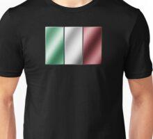 Italian Flag - Italy - Metallic Unisex T-Shirt