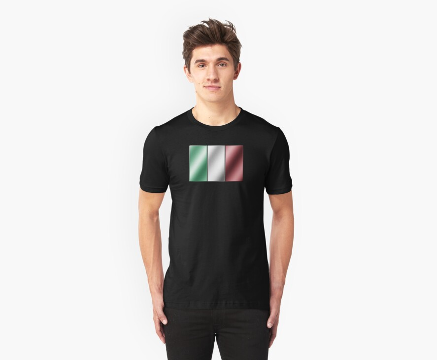 Italian Flag - Italy - Metallic by graphix