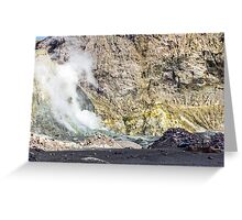 Volcano Helicopter Greeting Card