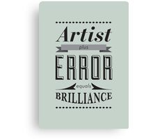 Error - Typography Canvas Print