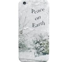 """Snow Fantasy """"Peace On Earth"""" ~ Greeting Card Plus More! iPhone Case/Skin"""