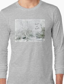"""Snow Fantasy """"Peace On Earth"""" ~ Greeting Card Plus More! Long Sleeve T-Shirt"""