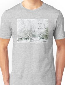 "Snow Fantasy ""Peace On Earth"" ~ Greeting Card Plus More! Unisex T-Shirt"