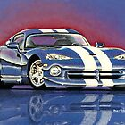 1996 Dodge Viper GTS Coupe by brianrolandart