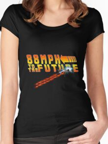 88MPH to the Future out of time Women's Fitted Scoop T-Shirt