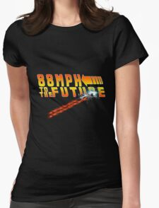 88MPH to the Future out of time Womens Fitted T-Shirt