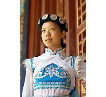 Chinese Naxi Girl Photographic Print