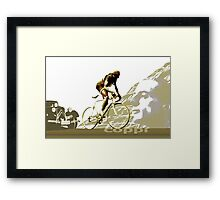 retro FAUSTO COPPI Tour de France cycling poster Framed Print