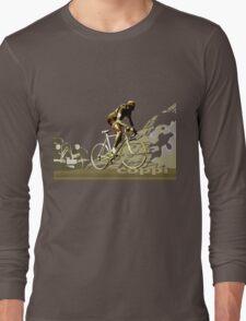 retro FAUSTO COPPI Tour de France cycling poster Long Sleeve T-Shirt