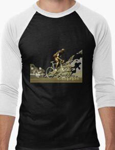 retro FAUSTO COPPI Tour de France cycling poster Men's Baseball ¾ T-Shirt
