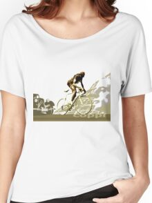 retro FAUSTO COPPI Tour de France cycling poster Women's Relaxed Fit T-Shirt